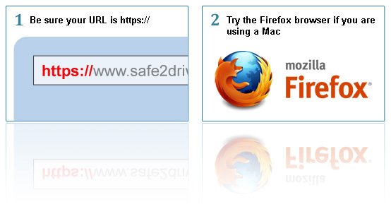 check URL and use firefox